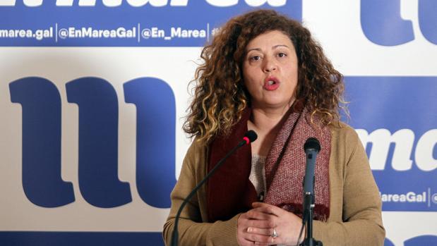 La viceportavoz de En Marea, Ana Seijas, en rueda de prensa