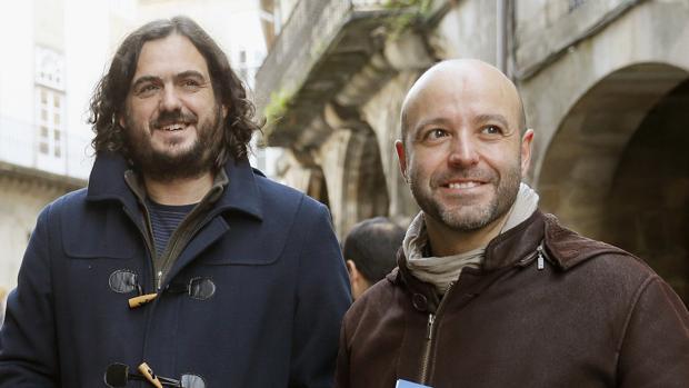 El líder de Anova, Antón Sánchez, y el de En Marea, Luís Villares