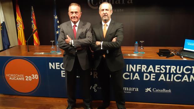 Riera y Palacio, en la presentación del estudio sobre infraestructuras de transporte