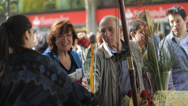 Vendedores de rosas en Barcelona