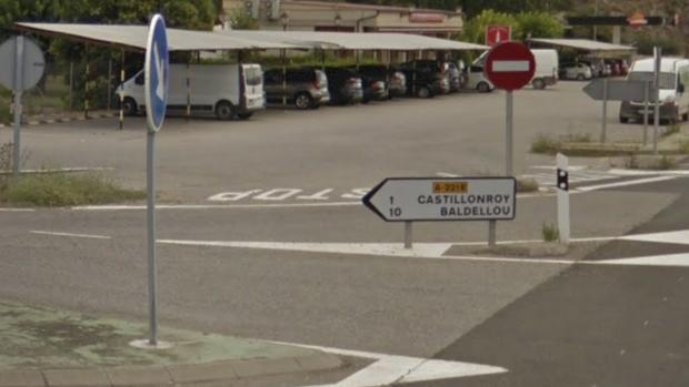Acceso a Castillonroy y Baldellou desde la N-230