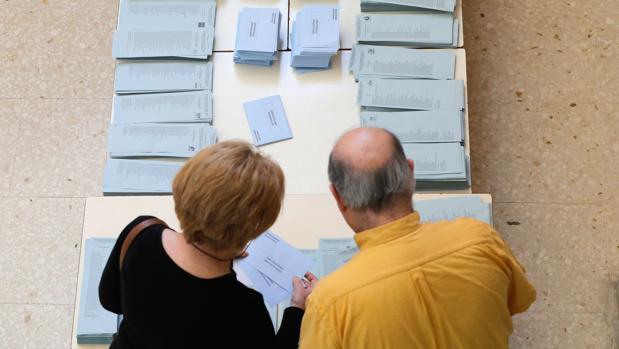 Imagen de la jornada de votación en las elecciones municipales en Valencia este domingo 26 de mayo