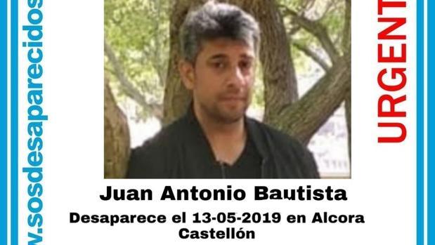 Imagen del desaparecido en Alcora, Castellón