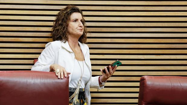 Mercedes Caballero, en las Cortes Valencianas