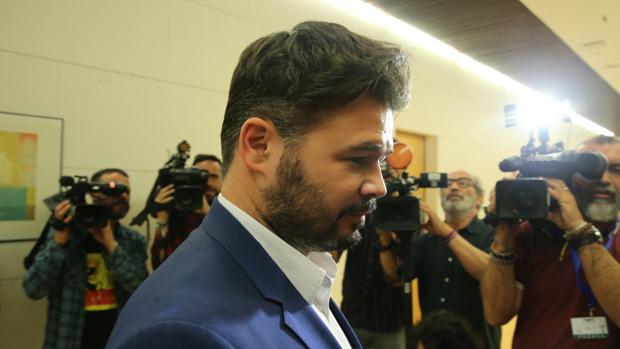 Gabriel Rufián, de ERC, fotografiado en el Congreso