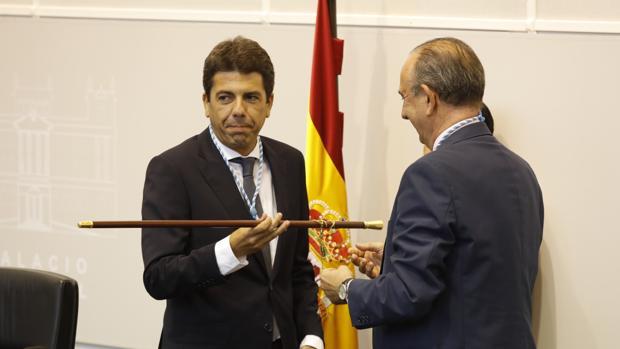 Imagen de Carlos Mazón en el acto de toma de posesión en la Diputación de Alicante