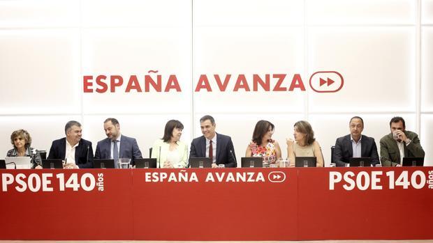 Reunión de la Ejecutiva Federal del PSOE celebrada el 18 de julio en Ferraz