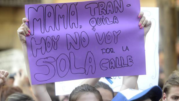 Cartel de una protesta en madrid tras la sentencia de La Manada en octubre pasado