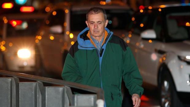 Jordi Pujol Ferrusola a la salida de prisión en diciembre de 2017