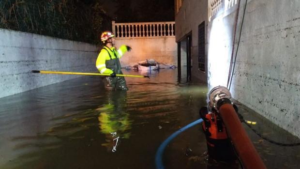 Una casa inundada en Villar del Olmo