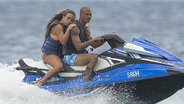 Chloe Green y Jeremy Meeks durante unas vacaciones en Barbados