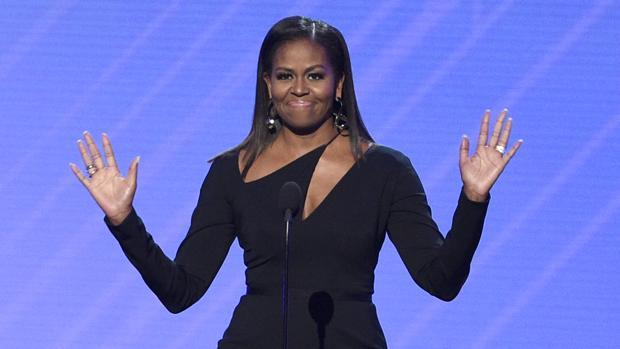 Michelle Obama, durante su intervención en la Fundación Obama, el pasado verano