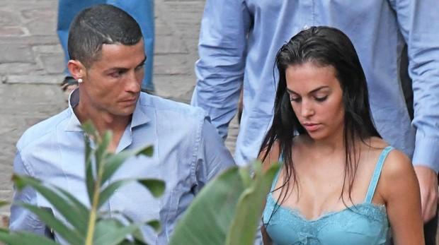 Cristiano Ronaldo y Georgina Rodríguez en Málaga