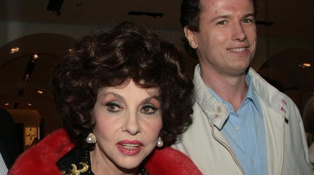 Gina Lollobrigida y Javier Rigau