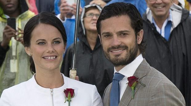 El Príncipe Carlos Felipe y la Princesa Sofía de Suecia