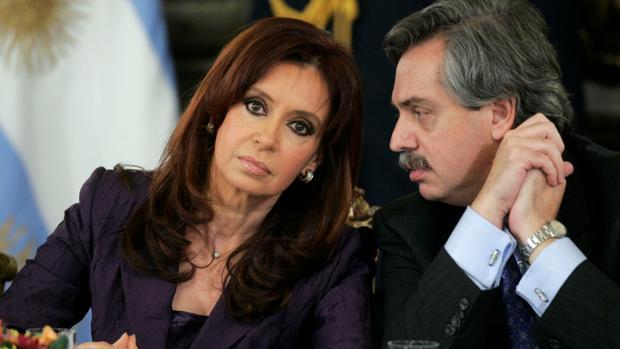 Cristina Fernández de Kirchner y Alberto Fernández en una reunión en la Casa Rosada