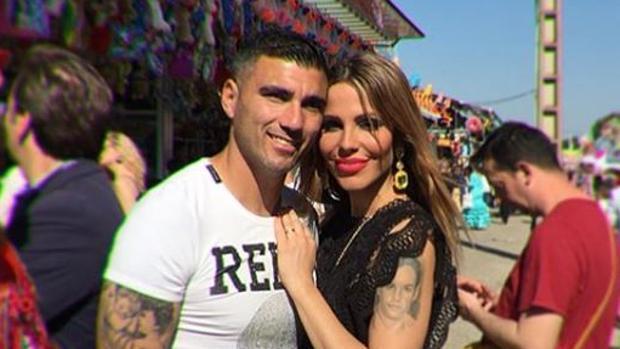 José Antonio Reyes junto a Noelia López