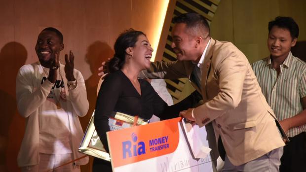 La ganadora Miriam Fatmi