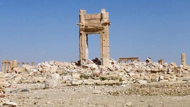 Fotografía de archivo del templo de Baal, en Palmira