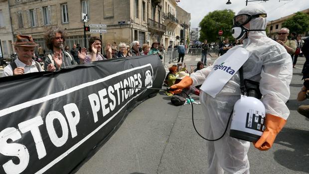 Fotografía de archivo de una manifestación contra el uso de pesticidas