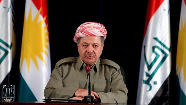 Masud Barzani, el pasado día 24 en Erbil
