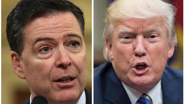 El exdirector del FBI James Comey y el presidente de Estados Unidos, Donald Trump