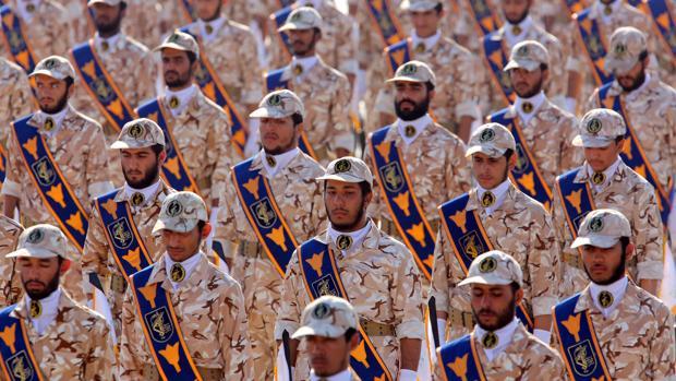 Fotografía de archivo que muestra un desfile militar de la Guardia Revolucionaria iraní en Teherán