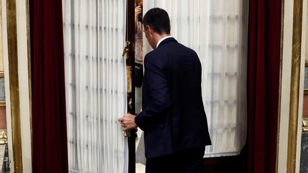 Pedro Sánchez, entra al hemiciclo del Congreso de los Diputados