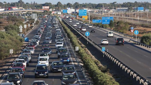 Tres caminos colapsado de tráfico.