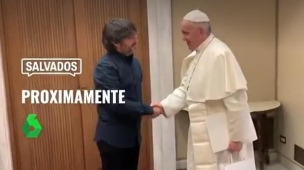 El Papa Francisco y Jordi Évole en un avance de Salvados