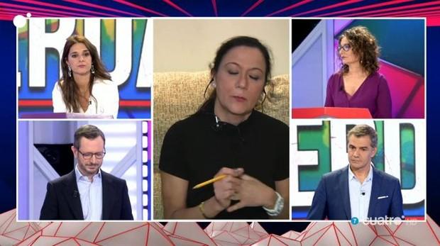 Los representantes de la sprincipales fuerzas políticas españolas responden a una ciduadana en «Todo es mentira»