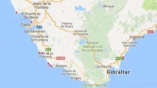 Mapa De Las Playas Nudistas De Cadiz Y Espana 2017