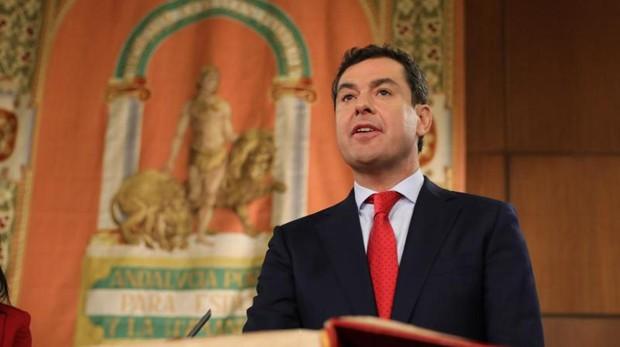 Juanma Moreno en su investidura como Presidente de la Junta de Andalucía.