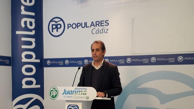 Antonio Saldaña es el secretario del PP en la provincia de Cádiz.