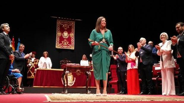 Patricia Cavada esta mañana en San Fernando