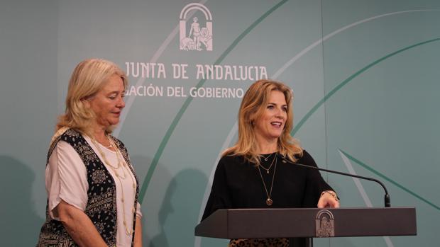 Ana Mestre y Mercedes Colombo en rueda de prensa