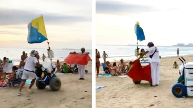 Los lateros de Cádiz, toreros en la playa