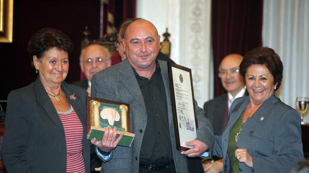 Manolo Santander, en la entrega de los VIII Premios Gaditanos del Año.