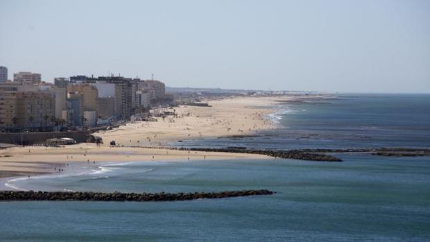Una imagen de la playa de Cádiz