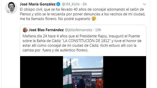 Respuesta del alcalde José María González 'Kichi' a José Blas Fernández.