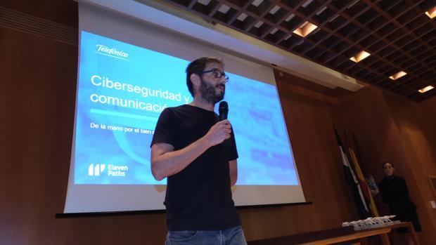 Sergio de los Santos, durante su intervención.