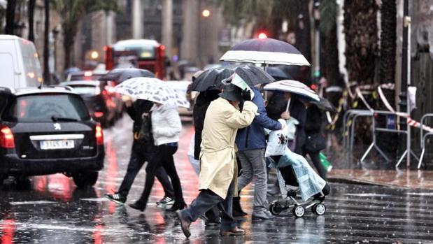 Lluvias el pasado 20 de enero en Valencia