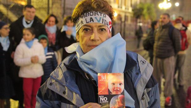 Manifestación en contra de la legalización del aborto en Buenos Aires