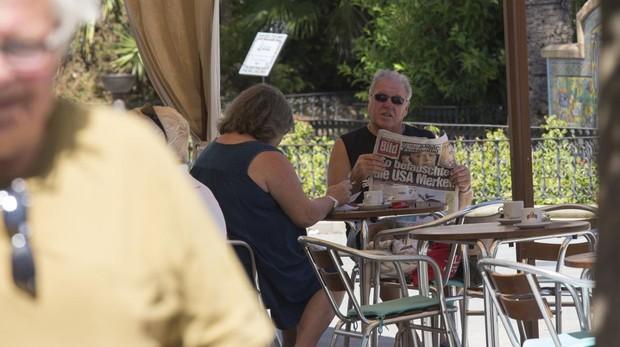 Turistas alemanes en Huelva