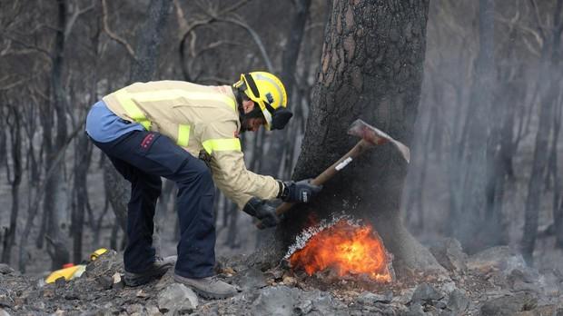 Los Bomberos de la Generalitat han dado por estabilizado el incendio forestal de Perelló (Tarragona)