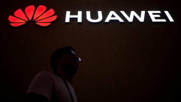 Huawei en la feria tecnológica CES 2018 en Shanghai, China